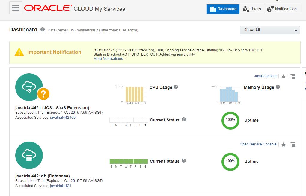 Rohan Walia's Tech Blog: Create Oracle Database Cloud
