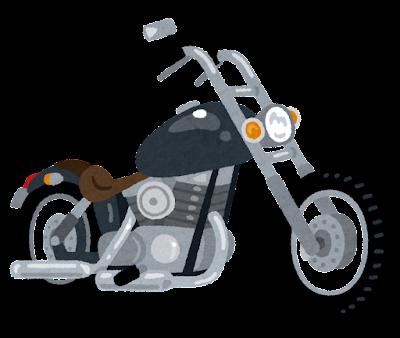 アメリカンバイクのイラスト
