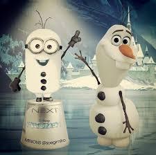 Gambar Minions Frozen Lucu Olaf di Salju