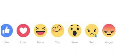 Facebook Luncurkan Fitur Like Baru. Bisa Love, Haha, Wow, Sad atau Angry