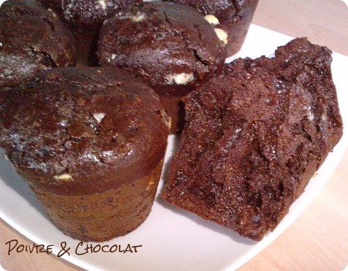 muffins moelleux au chocolat sans beurre poivre et. Black Bedroom Furniture Sets. Home Design Ideas