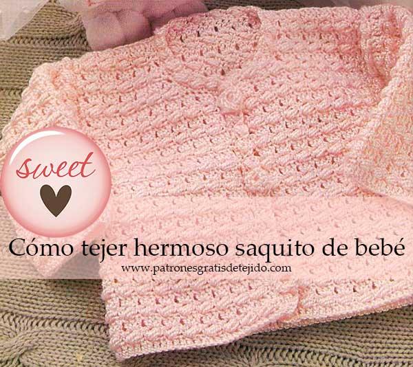 723e1f52a5582 Bebé   Saquito crochet paso a paso