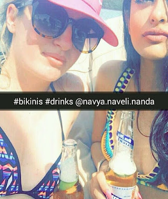 Navya Nanda Bikini Photos From Instagram
