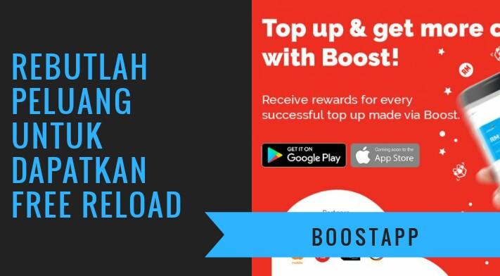 Reload dengan mudah menggunakan aplikasi Boost dan dapatkan kredit reload percuma. Sangat mudah! dan diyakini...