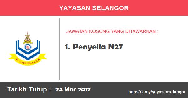 Jawatan Kosong di Yayasan Selangor