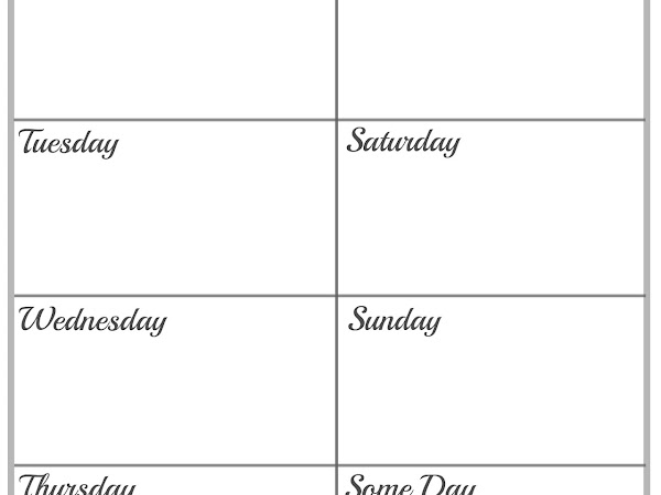 Get Organized // A Cleaning Schedule