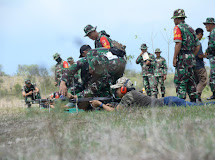 Kodim 1306/Dgl Latihan Menembak Bersama Masyarakat