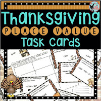 Teachers Pay Teachers Thanksgiving Place Value Skills FREE Task Cards