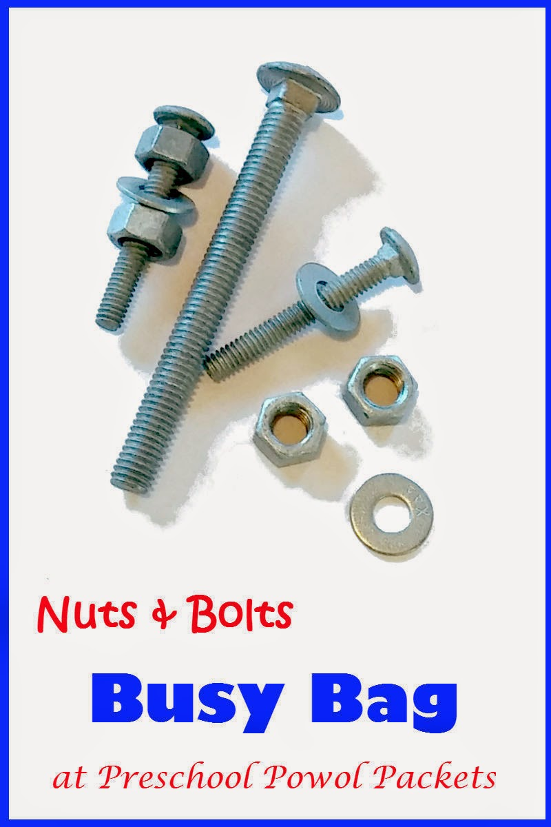 Nuts and Bolts Busy Bag | Preschool Powol Packets