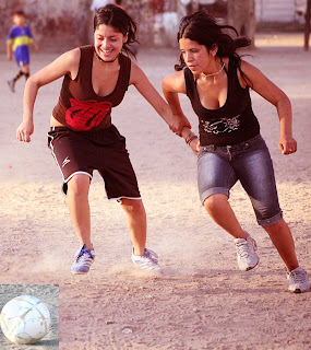 Hot girls playing football 8
