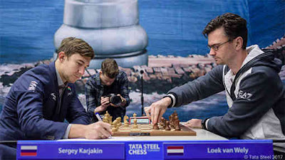 Ronde 3 du Tata Steel Chess : Sergey Karjakin bat Loek Van Wely et rejoint le peloton à 2 points sur 3 - Photo © site officiel