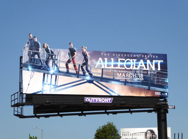 Allegiant special extension movie billboard