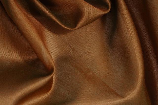 Golden Brown Cotton Silk Fabric