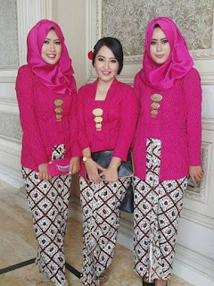 model baju batik rok panjang polos