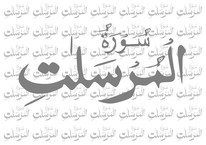 Islam My Ultimate Decision: Surah Al Mursalat (The Winds
