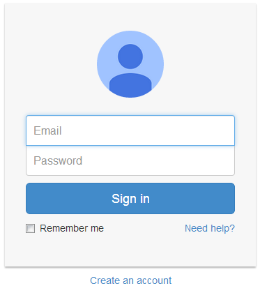 google style login page using bootstrap