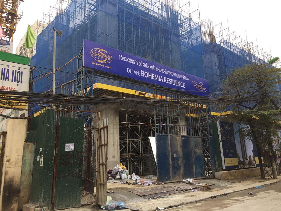 Công trường xây dựng tại Bohemia Residence