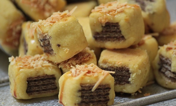 resep semprit wafer cookies404simply delicious