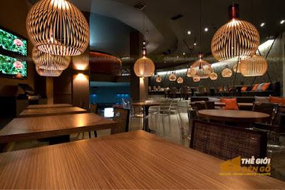 Thế Giới Đèn Gỗ - Những mẫu đèn trang trí quán cafe tuyệt đẹp 9