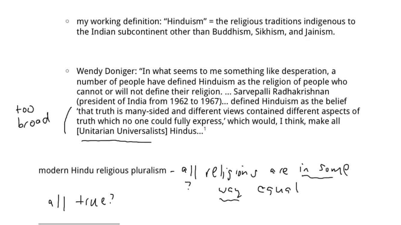 the facts about islam: world religions: notes on hinduism