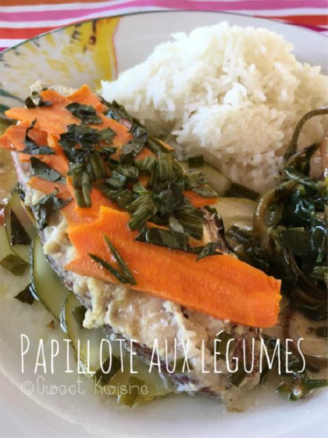 sweet kwisine, recette de poisson, poisson papillote, vivaneau, manger du poisson, recette facile, cuisine antillaise, martinique, guadeloupe