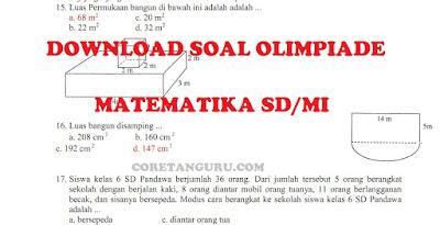 Soal Olimpiade Matematika SD/MI Seleksi Tingkat Kecamatan Soal Pilihan