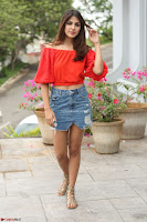 Rhea Chakraborty in Red Crop Top and Denim Shorts Spicy Pics ~  Exclusive 261.JPG