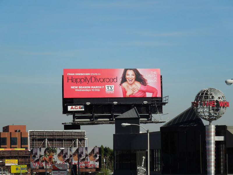 Happily Divorced season 2 TV billboard