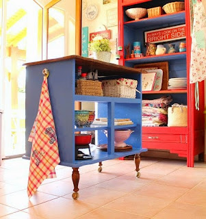 Dishfunctional Designs Upcycled Awesome Kitchen Islands