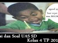 Kisi-kisi dan Soal UAS Kelas 4 SD TP 2016-2017