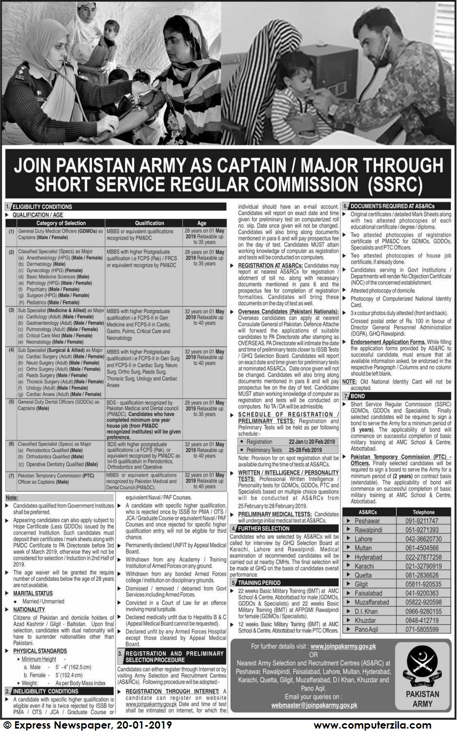 Jobs 2019 Join Pak Army As Captain\Major Through Short