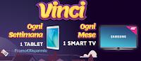 Logo Vinci Tablet e Smart Tv con 3 confezioni di caramelle