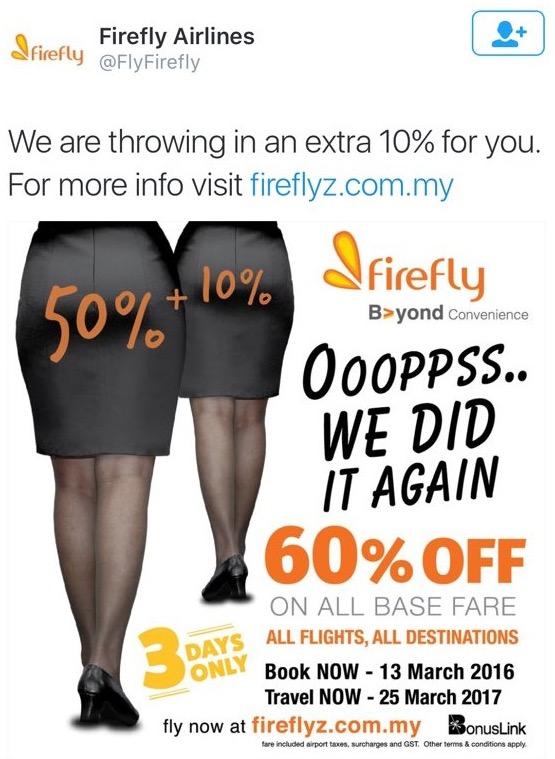 Promosi Tiket Dengan Punggung Wanita, Ini Penjelasan Firefly