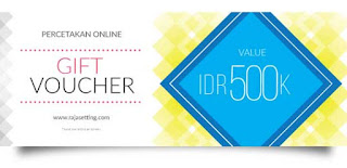 Percetakan Voucher Hadiah Bazar