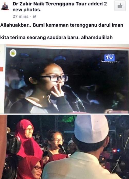 Saat-Saat Seorang Remaja Kristian Diislam Dr Zakir Naik di Padang Astaka Kemaman