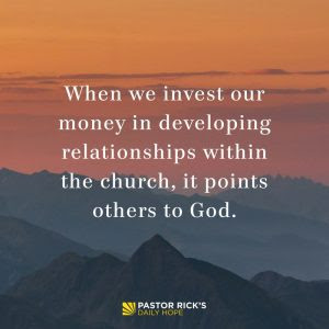 How to Invest in the Fellowship of Your Church by Rick Warren