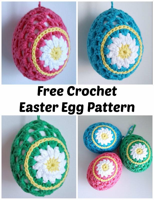 Dinki Dots Craft Daisy Crochet Easter Eggs Pattern Hobbycraft