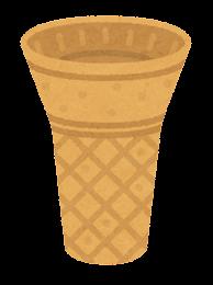 アイスのコーンのイラスト(コーン2)