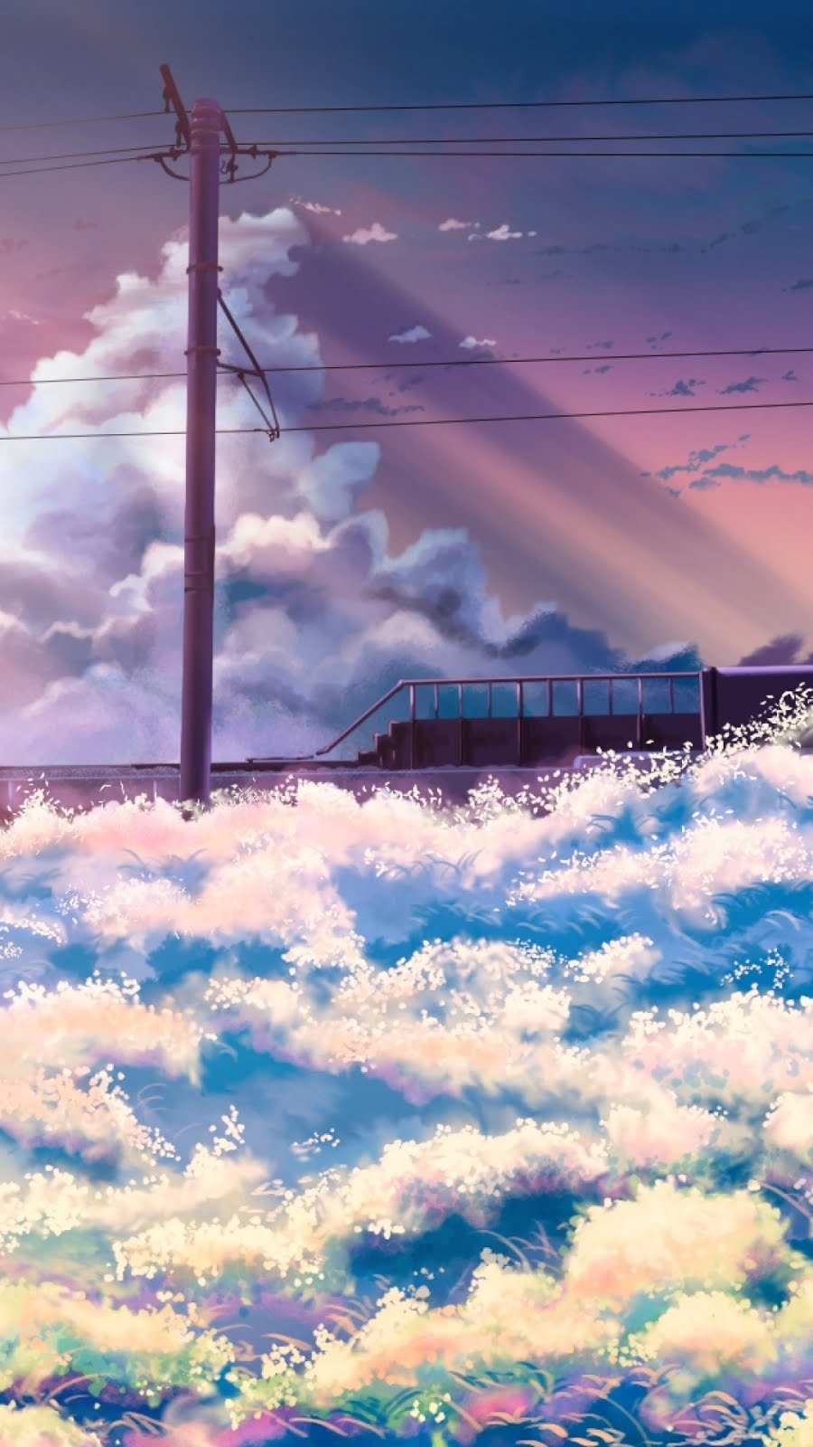 美しい風景のイラスト 壁紙 Iphone8 Iphonex 壁紙box