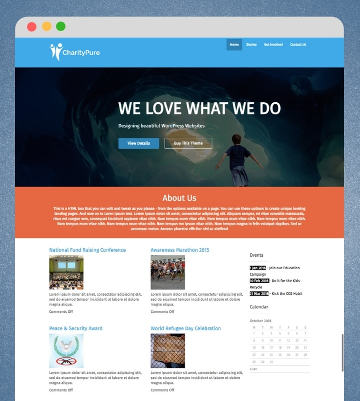 CharityPure (Business WordPress Theme)