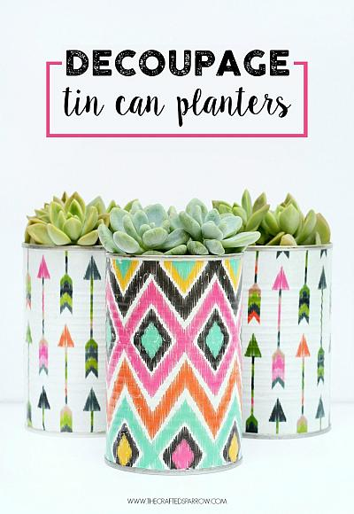 How to turn empty tin cans into a cool recycled craft