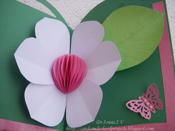 honey comb flower pop up card