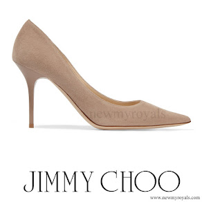 Princess Charlene - Jimmy Choo Agnes Suede Court Shoes