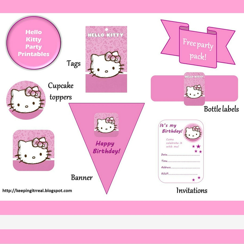 Hello kitty party pack free printables keeping it real in the meantime i finally finished putting together the hello kitty party pack printables i made last spring for the birthday party of a friends daughter maxwellsz
