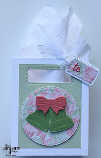 Our Daily Bread Designs Custom Dies: Christmas Bells, Celebration Words, A Gift for You, Card Caddy & Gift Bag, Double Stitched Circles, Double Stitched Rectangles, Gift Bag Handles & Topper, Paper Collection: Christmas 2018