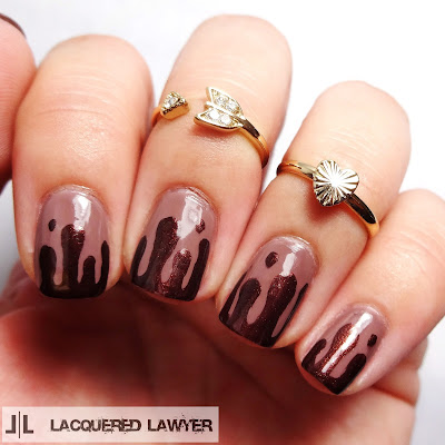 Chocolate Milkshake Nails
