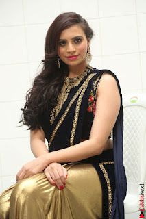 Priyanka Ramana in Beautiful Designer Black Saree At We Craft Elegance Expo Launch 002.JPG