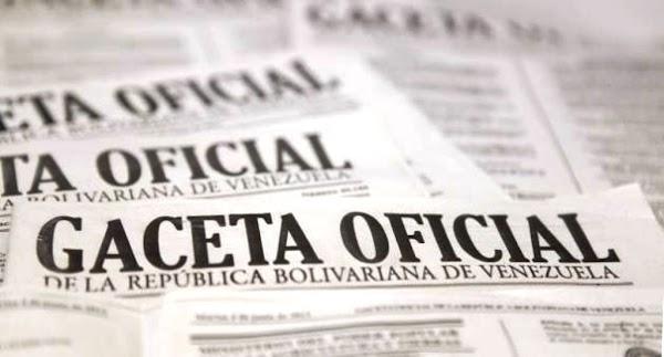 Véase SUMARIO Gaceta oficial Nº 41.371 05 de Abril de 2018