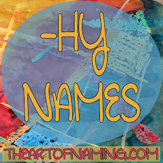 The Art of Naming - boy and girl names ending with hy, thy, shy, phy