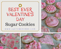 Valentine's Day Sugar Cookies with Buttercream Frosting